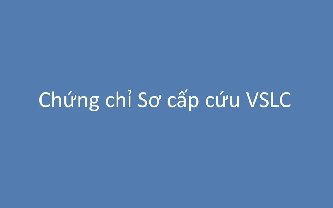 Chứng chỉ Sơ cấp cứu VSLC