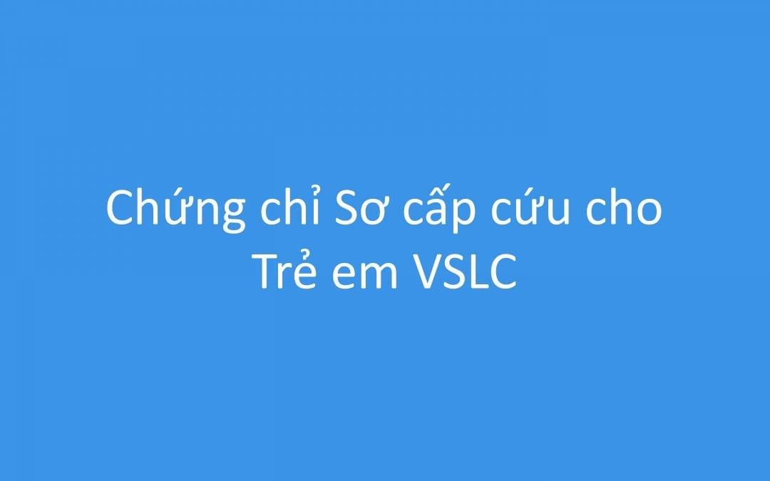 Chứng chỉ Sơ cấp cứu cho Trẻ em VSLC